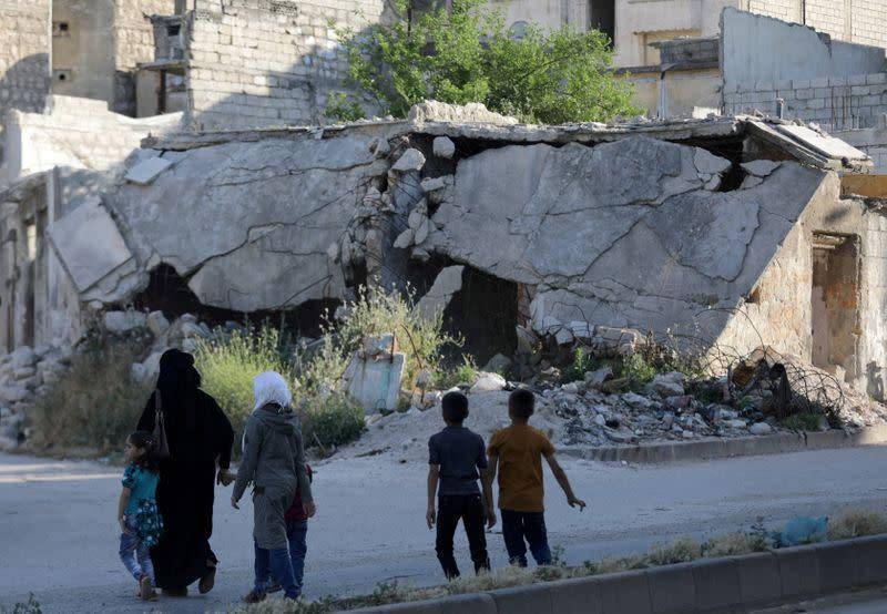 Over 230,000 people flee Idlib in two-week Russian-backed offensive - U.N.