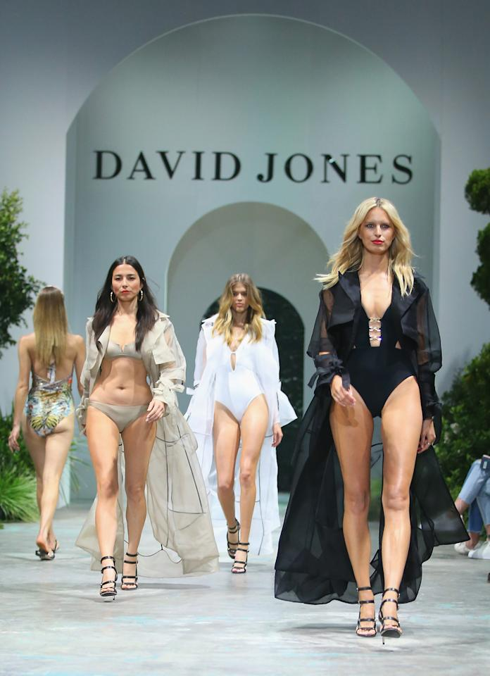 <p>The models showed off the latest fashion in swimwear on the Sydney catwalk. Photo: Getty Images </p>