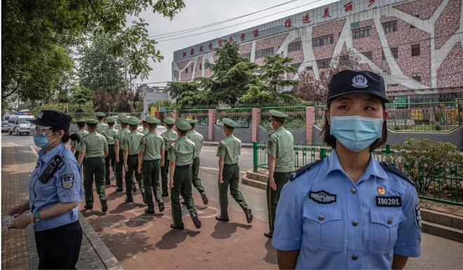 The Beijing health bureau urged anyone who had visited the Xinfadi market since May 30 to report to the government so they could be tested. Photo: EPA-EFE