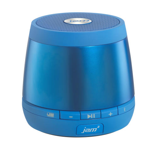 This image provided by Blue Wolf Communications, Inc. shows the HMDX Jam Plus speaker. These stubby tumbler-glass sized speakers are perfect companions to a laptop or tablet. For the price, a pair of these would make a nice stocking stuffer for any gadget lover. (AP Photo/ Blue Wolf Communications, Inc.)