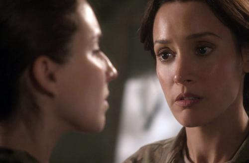 "This image provided by WIGSCO, LLC shows Jennifer Beals, right, as Maj. Jo Stone in WIGS' ""Lauren,"" confronting co-star Troian Bellisario as a female soldier who reports being raped. The three-part Web series gives a close-up look at the challenges and obstacles women service members face in trying to find justice after being raped. (AP Photo/WIGSCO, LLC)"