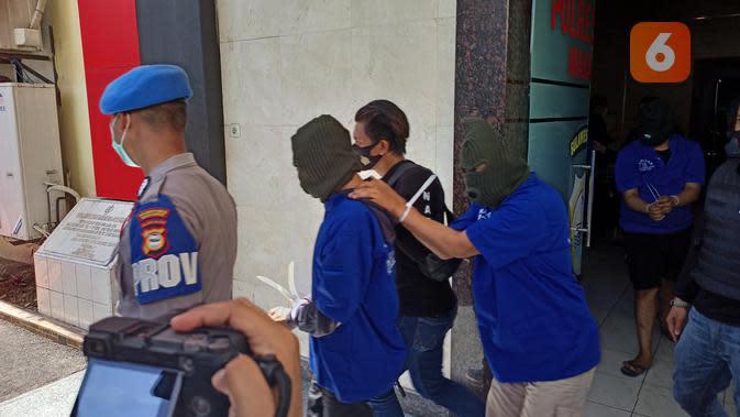 Empat pelaku diamankan Ditnarkoba Polda Sulsel (Liputan6.com/Fauzan)