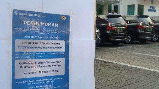 Bukopin Malang Ditutup karena 2 Pegawai Warga Surabaya Positif Corona