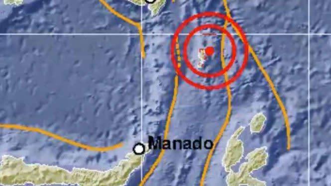 Gempa Magnitudo 5,7 Guncang Talaud