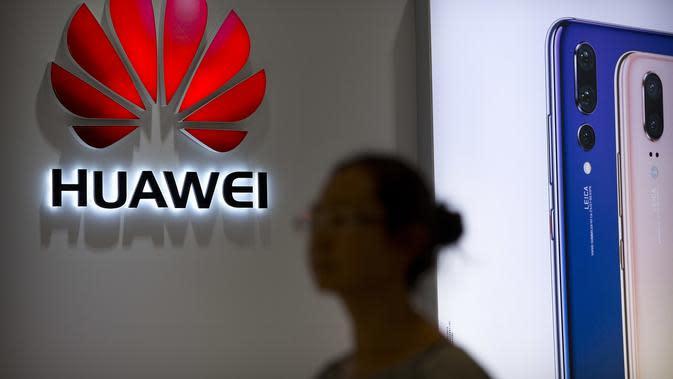 Salah satu toko resmi Huawei di Beijing, China (AP/Mark Schiefelbein)