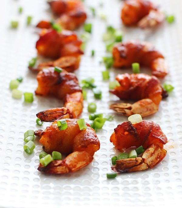 "<p>You won't believe how easy these <a rel=""nofollow"" href=""https://www.popsugar.com/food/Bacon-Wrapped-Buffalo-Shrimp-36173856"">bacon-wrapped buffalo shrimp</a> are to prep. </p>"