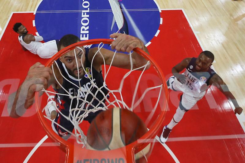 Team USA's small-ball lineups posed no challenge to France's Rudy Gobert. (Getty Images)