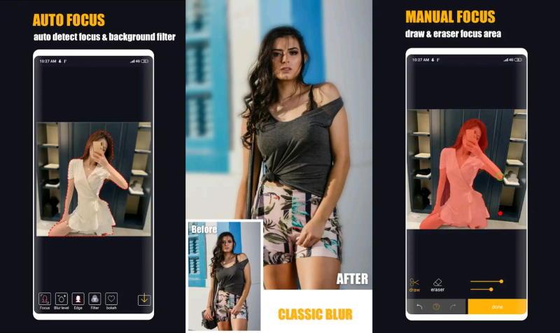 Auto Blur Background App