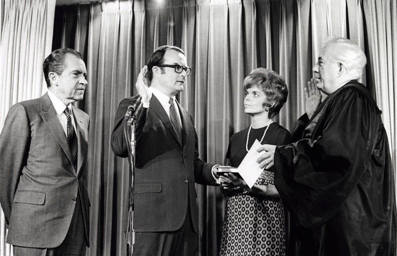 William Ruckelshaus is sworn in as the first EPA Administrator