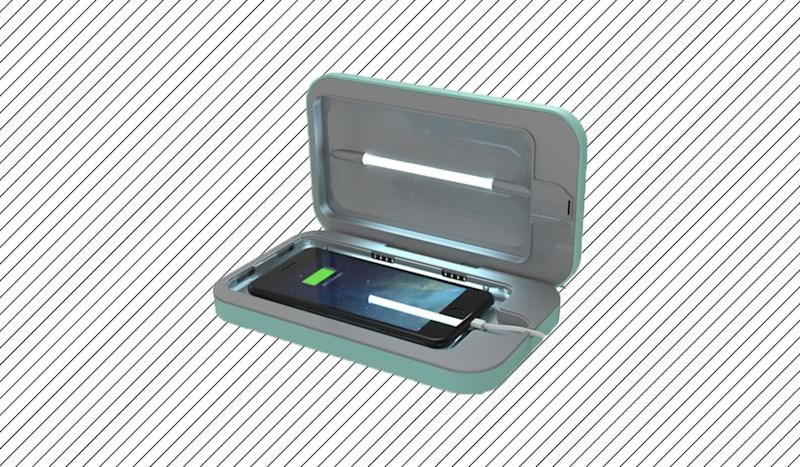 This case both sanitizes and charges your phone. (Photo: PhoneSoap)
