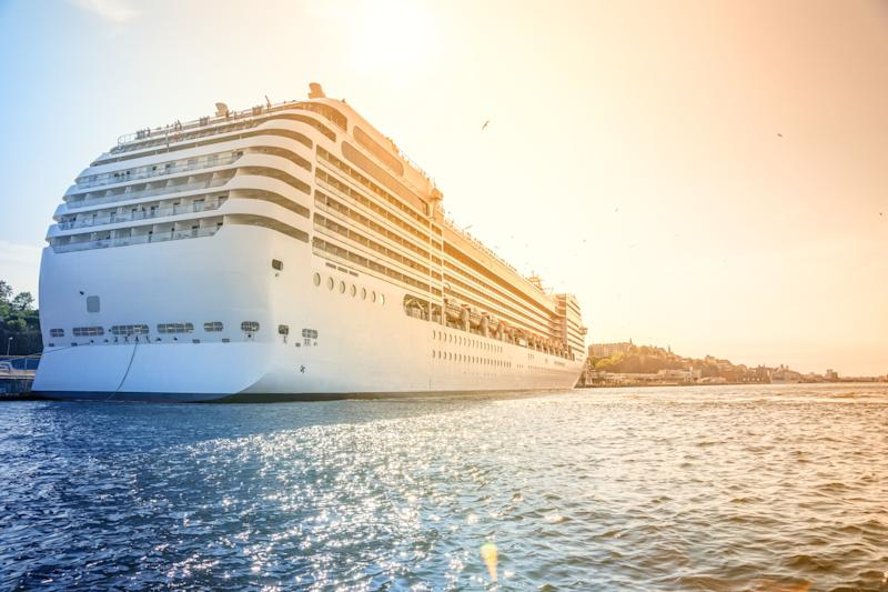Cruise ship sailing into Sweden