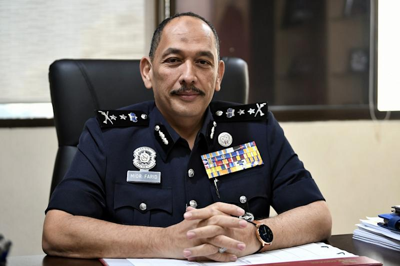 The police noted that CID deputy director DCP Datuk Mior Faridalathrash Wahid was never involved in any investigation against the aide and that cases featuring the aide and the politician were handled by a special police team rather than the CID. — Bernama pic