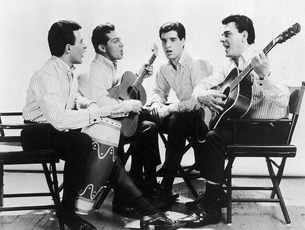 The Four Seasons, circa 1963. Left to right: Frankie Valli, Tommy DeVito, Bob Gaudio and Nick Massi  - Archive Photos: 2006 Getty Images