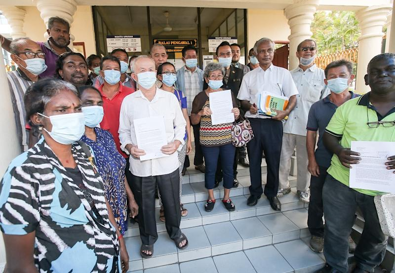 PSM chairman Dr Jeyakumar Devaraj together with representatives from the Sungai Siput-Hulu Kinta farmers coalition presented a memorandum on land issues to the mentri besar's office in Ipoh July 15, 2020.