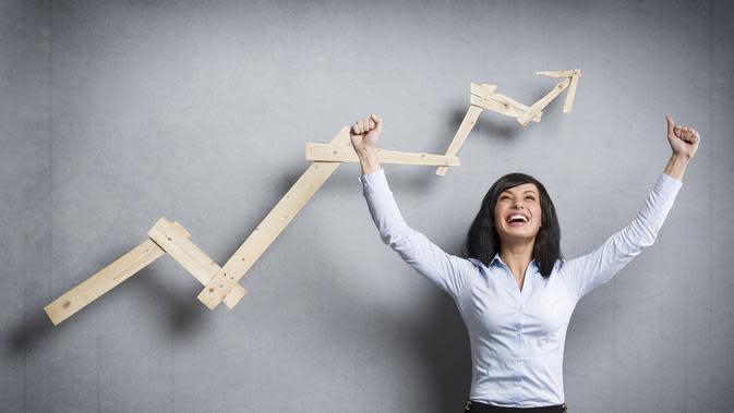 Ilustrasi perempuan sukses dengan berbagai proses dialaminya. (Picture: diaiz.co)