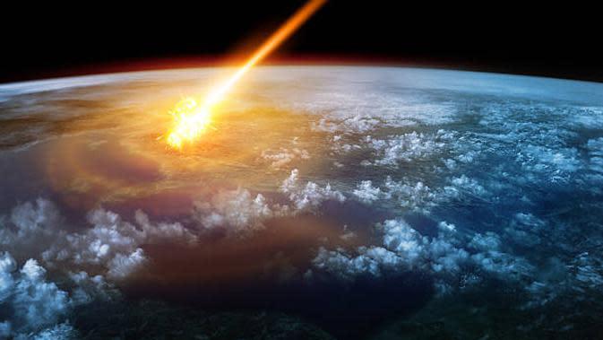 Ilustrasi asteroid mendekati Bumi. (iStock)