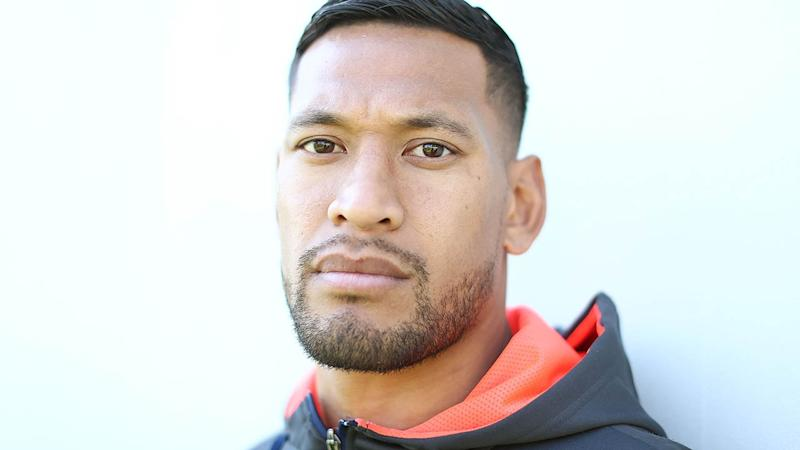 Israel Folau has thanked his supporters. (Photo by Mark Metcalfe/Getty Images)