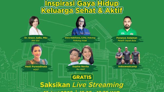 Live Streaming MILO Activ Indonesia, Sabtu (13/6/2020).