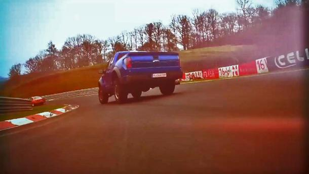 Watch Tanner Foust run the Ford SVT Raptor around the Nürburgring