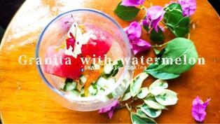 甜品教學|沙冰配煙燻西瓜粒 夏天最配 高級餐廳甜品 無冰淇淋機 (附影片)