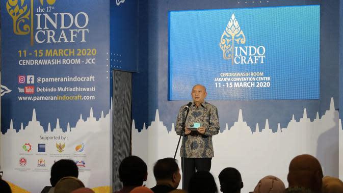 Menteri Koperasi dan UKM Teten Masduki membuka Indocraft 2020 di Jakarta, Rabu (11/3/2020). Merdeka.com/Dwi Aditya P