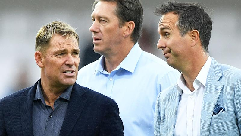 Shane Warne; Glenn McGrath and Michel Vaughan, pictured here at Headingley during the third Ashes Test.