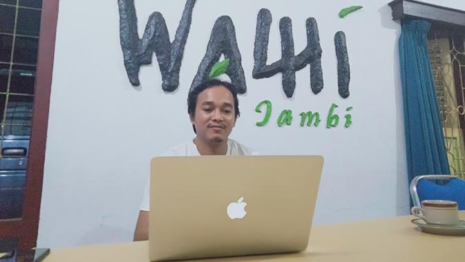 Direktur Eksekutif Daerah Walhi Jambi, Rudiansyah. (Liputan6.com / Gresi Plasmanto)