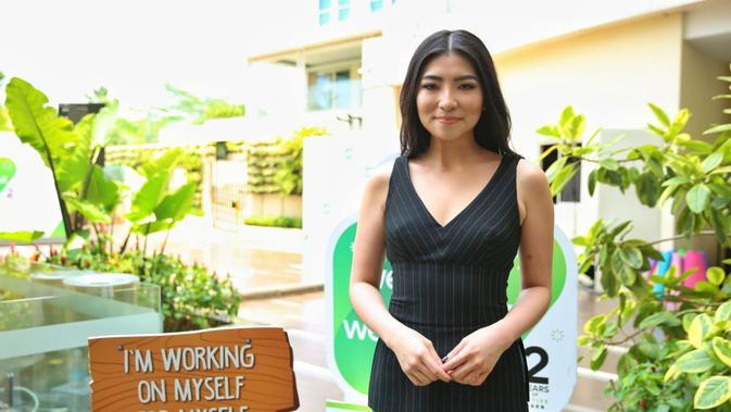Gillian Koh Berbagi Cerita Soal Vegan Plant Based Diet di Weekend Workout Wellness. (Fimela.com/Adrian Putra)