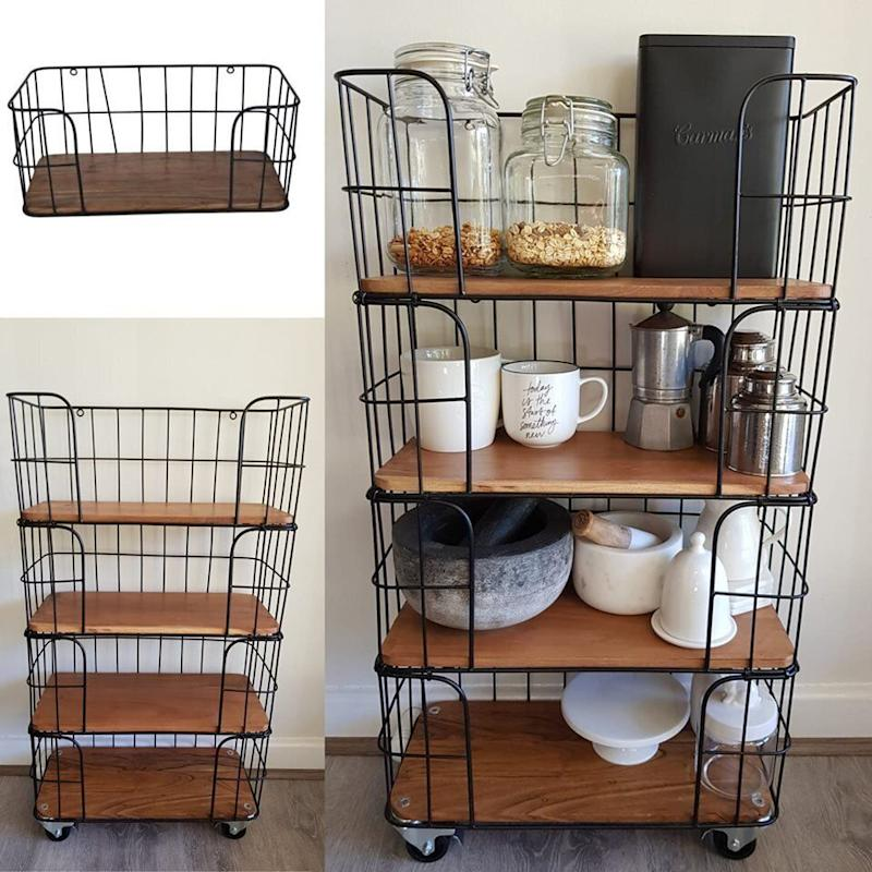 Fabulous Kmart Cage Shelf Hack To Create Imitation Of 650 Ishka Shelves Download Free Architecture Designs Oxytwazosbritishbridgeorg