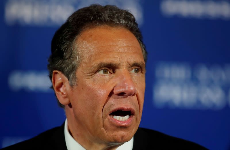 New York's Cuomo 'disgusted' at Trump claim protester 'fell harder than was pushed'