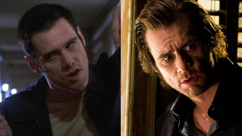 Jim Carrey in 'The Cable Guy' and 'The Number 23'. (Credit: Sony/New Line Cinema)