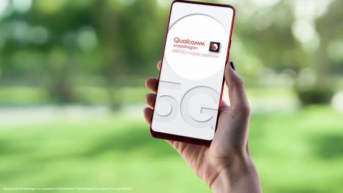 Ilustrasi smartphone 5G (Foto: Qualcomm)