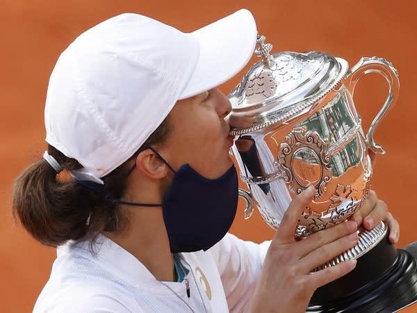 Polish tennis player Iga Swiatek