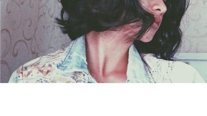 Gaya rambut Adinda Azani (Sumber: Instagram/dindazani)