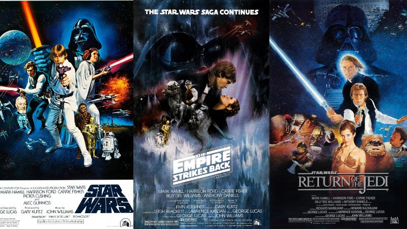 Star Wars Episodes IV to VI. Images via IMDB.