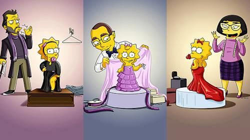 Maggie Simpson's (shockingly) sexy Oscar gowns