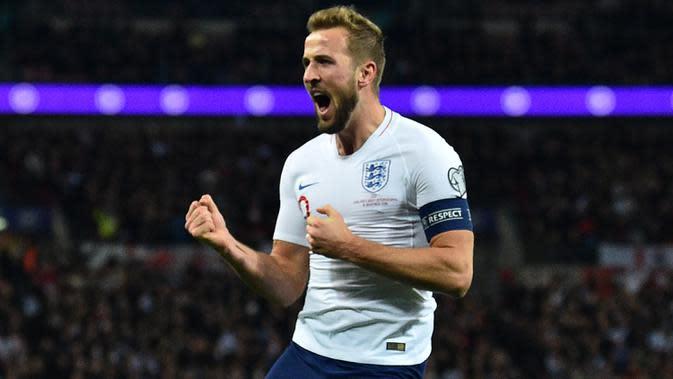 Kehadiran Harry Kane di lini depan Inggris membuat setiap lawan merasa terancam. (AFP/Glyn Kirk)