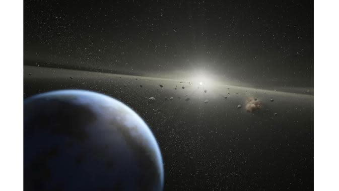 Asteroid besar lintasi Bumi, kemarin (Foto: IB Times)