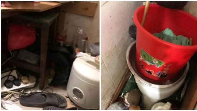Kakek ini tinggal di toilet dengan ruang yang begitu sempit. (Sumber: World of Buzz)