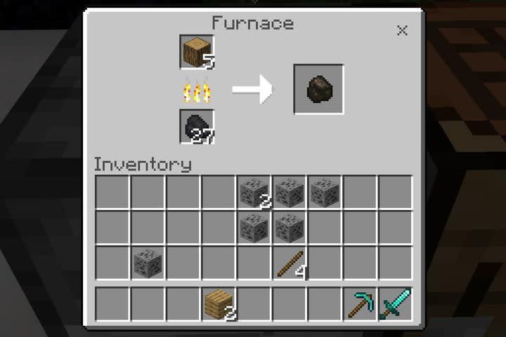 Minecraft Make Charcoal