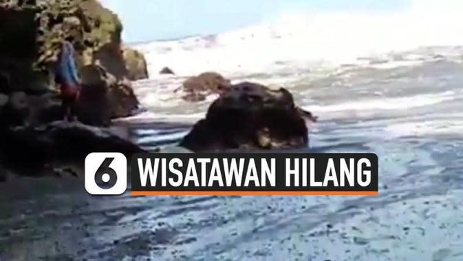 VIDEO: Wisatawan Hilang Terseret Ombak Saat Swafoto