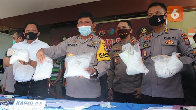 Polda Sulteng Amankan 25 Kg Sabu-Sabu Asal Malaysia