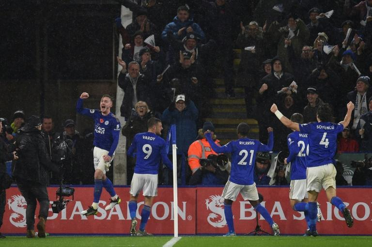 Leicester outclassed Arsenal 2-0 to move second in the Premier League