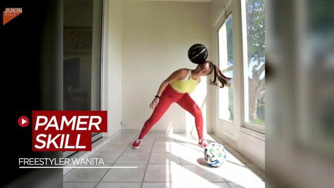 VIDEO: Bak Neymar dan Cristiano Ronaldo, Freestyler Wanita ini Pamer Skill Juggling dari Bola Tenis Hingga Bola Basket