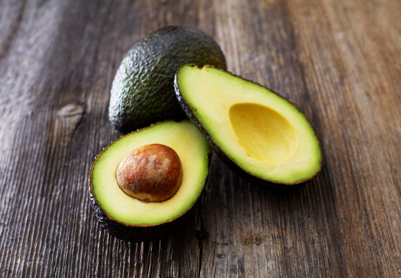 Pictured is a sliced avocado. Avocados should be kept in the fridge once they skins been cut open, according to CSIRO.