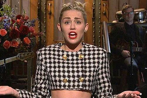 Miley Cyrus Rips Miley Cyrus, Twerking, Republicans on 'SNL' (Videos)
