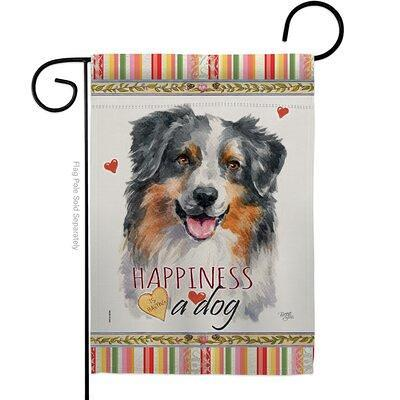 Breeze Decor Bulldog Happiness Impressions Decorative 2 Sided Polyester 19 X 13 In House Flag Dog Breed Australian Shepherd In Red Brown Gray Yahoo Shopping