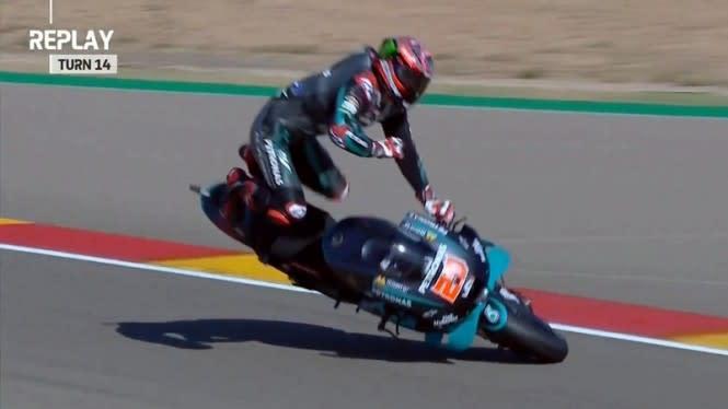 Drama FP3 MotoGP Aragon, Quartararo Terpelanting, Pembalap Ducati Rugi