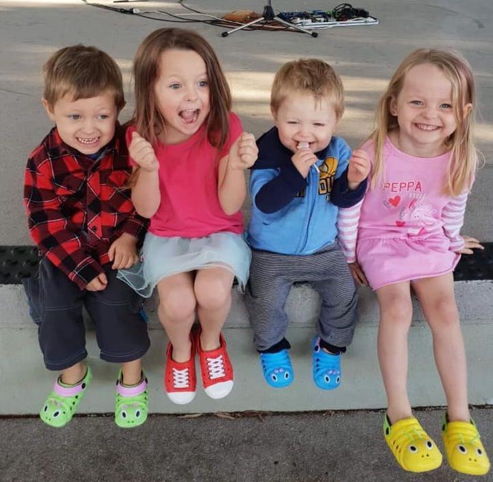 Photo of Aaleyn, 6, Matilda, 5, Wyatt, 4, and Zaidok, 2, who were killed in a Queensland car crash.