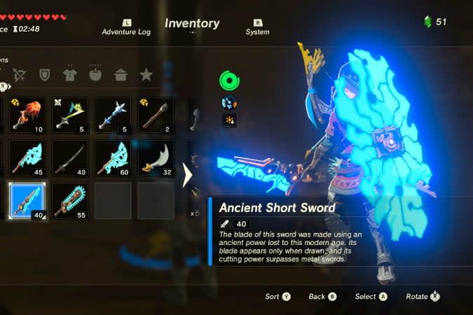 the legend of zelda breath wild best weapons anc sword 2
